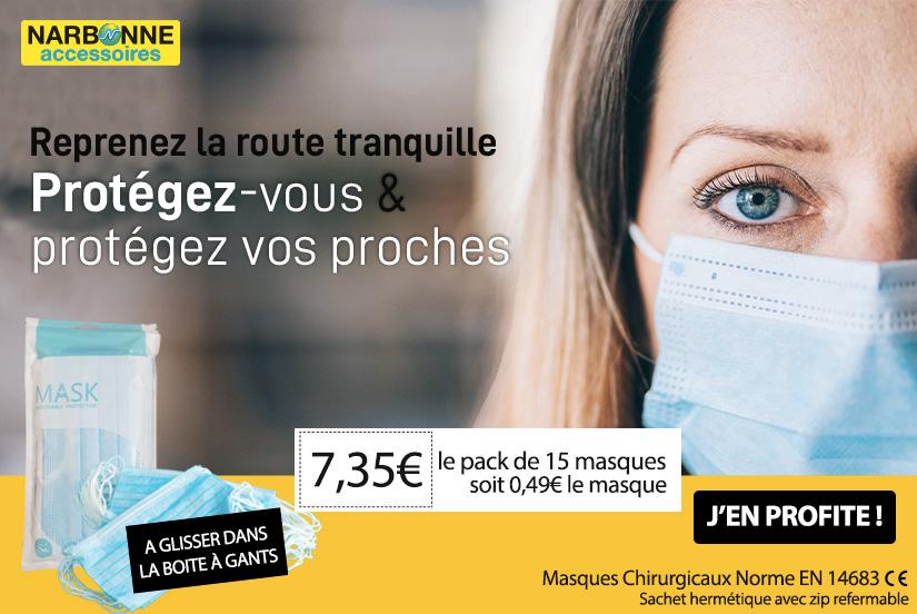 Protection assurée avec les masques chirurgicaux !