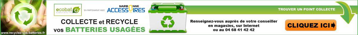 Recyclage des batteries usagées : Narbonne Accessoires collecte votre batterie gratuitement